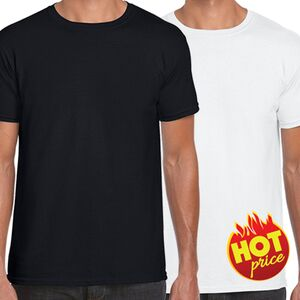 HOT PRICE | White & Black Promo T-Shirt  Thumbnail