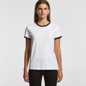 Ladies Ringer Tee by AS Colour Thumbnail